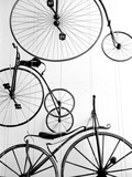 Bicycle Display at Swiss Transport Museum Lucerne Switzerland