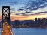 The Bay Bridge from Treasure Island in San Francisco California USA
